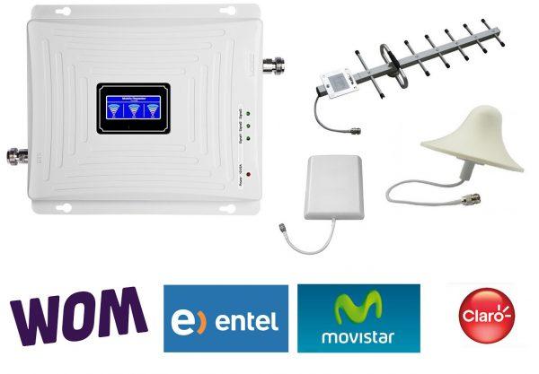 kit amplificacion de señal celular entel, wom, movistar y claro